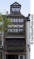 house facade in Duesseldorf - historic house facade in...