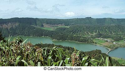 lagoa das sete cidades at Sao Miguel Island - lake named...