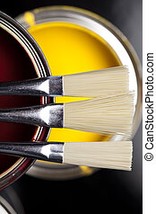 Color Image - art, background, brush, bucket, can, color,...