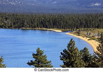 Lake Tahoe - Beach at Lake Tahoe, California in summer