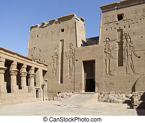 temple of Isis detail - detail of the ancient temple of Isis...