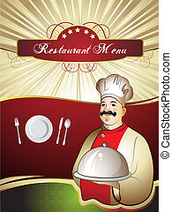 Menu Card Design with chef