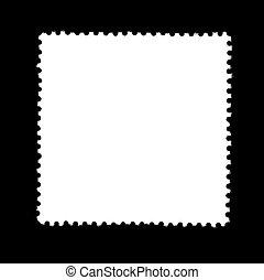 plain stamp - unlabeled white stamp in black back