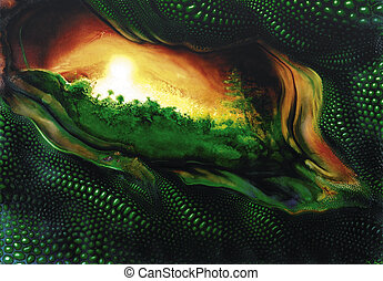 mystic reptile theme - picture painted by me named...