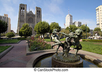 Fountain at Huntington Park by Grace Cathedral