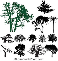 Tree silhouette collection. Vector illustration for you...
