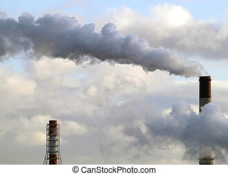 Air pollution - Picture of the Air pollution from factory...