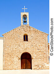 Sant Ferran church and belfry in Formentera - Sant Ferran...
