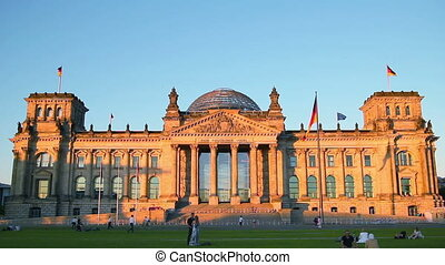 Berlin Attractions - BERLIN - June 27, 2011 Reichstag,...