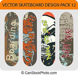 Skateboard design pack 12