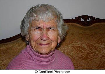 puzzled senior citizen