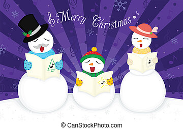 Christmas greetings card - A vector illustration of a Merry...