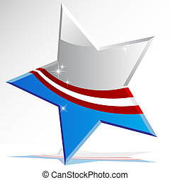 American Star Icon - An image of a american themed star icon...