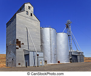 Wheat Granary Storage Palouse Washington State Pacific...