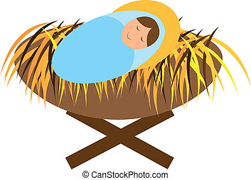 baby jesus isolated over white background vector