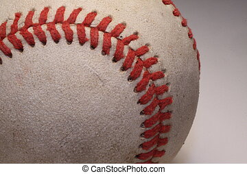 Baseball Closeup - Closeup of the stiches on a baseball