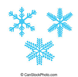 snowflakes isolated over white background vector