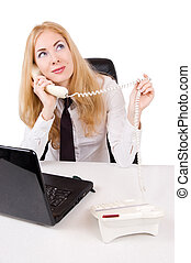 Businesswoman talking on phone