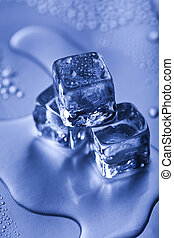 Background with ice cubes - Ice can refer any of the 14...