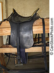Cavalry Saddle - An old McLellan cavalry saddle