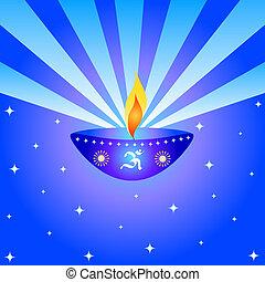 Diwali lamp - Indian festival Diwali lamp