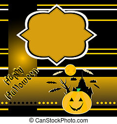 halloween background with banner vector