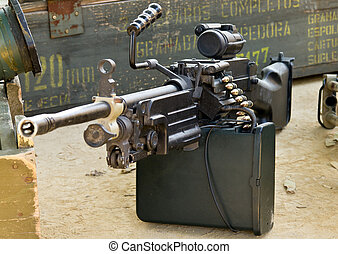 Machine Gun on the floor