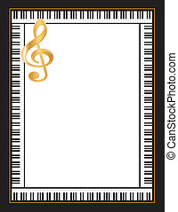 Music Poster - Entertainment event poster, black frame with...