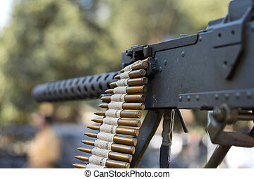Machine Gun - Detail of Machine Gun, World War II style