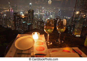 Restaurant on The Peak Hong Kong - View from restaurant on...