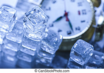 Ice cubes & Alarm clock - The photography of classical alarm...