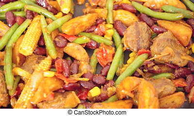 American cuisine - Typical southwestern food roasted in a...