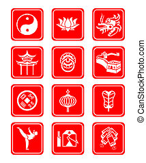 Chinese culture icons - Traditional Chinese culture symbols...