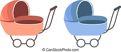 Baby Carriage. For boy and for girl.