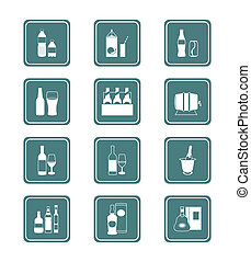 Drinks icons | TEAL series
