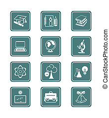 Education icons | TEAL series - School and college education...