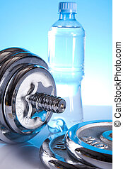 Weight loss, fitnes - Fitness, dumbell