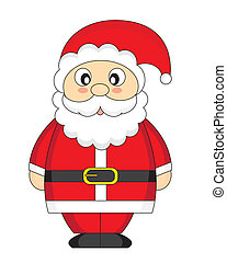 Santa Claus. Cartoon isolated on white background