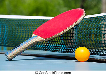 table tennis - ball and paddle for table tennis