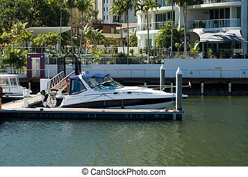 Canal Scene, Surfers Paradise, Queensland, Australia - A...