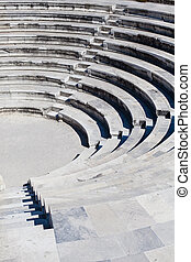 Amphitheatre - old curved stairs of ancient greek...