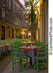 Beautiful greek tavern. corfu - Beautiful greek tavern