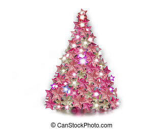 Christmas tree on white background - Christmas tree...