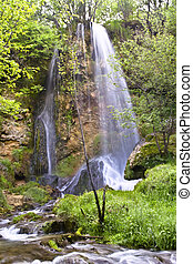 The beautiful waterfall in forest,