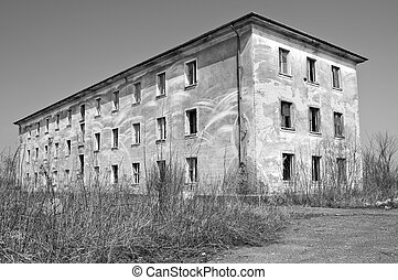 Abandoned building in Eastern Europe