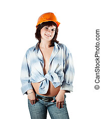 Sexy construction worker - Sexy female construction worker...