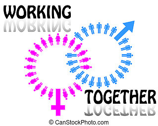 Work team concept Men and Women