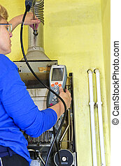 plumber and gas heating
