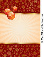Vector background with christmas balls