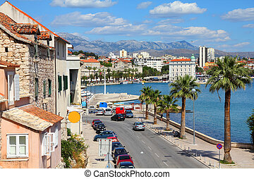 Split, Croatia - Croatia - Split in Dalmatia. Old town -...